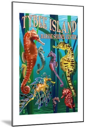 Tybee Island Marine Center - Tybee Island,Georgia - Sea Horses-Lantern Press-Mounted Art Print