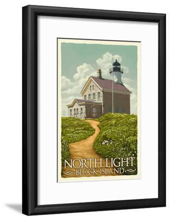 Block Island, Rhode Island - North Light-Lantern Press-Framed Art Print