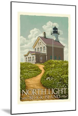 Block Island, Rhode Island - North Light-Lantern Press-Mounted Art Print