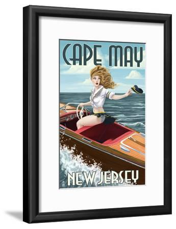 Cape May, New Jersey - Boating Pinup Girl Art Print by Lantern Press |  Art com