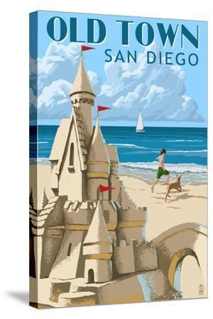 Old Town - San Diego, California - Sandcastle-Lantern Press-Stretched Canvas Print