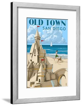 Old Town - San Diego, California - Sandcastle-Lantern Press-Framed Art Print