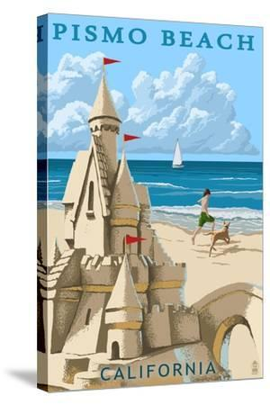 Pismo Beach, California - Sandcastle-Lantern Press-Stretched Canvas Print
