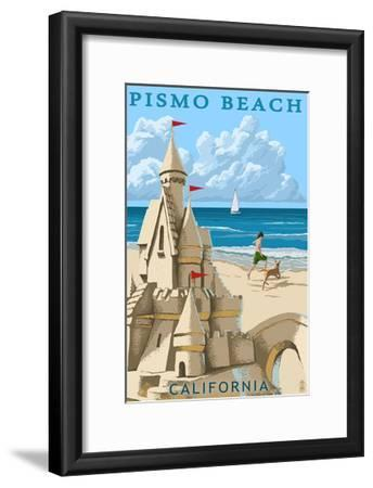 Pismo Beach, California - Sandcastle-Lantern Press-Framed Art Print