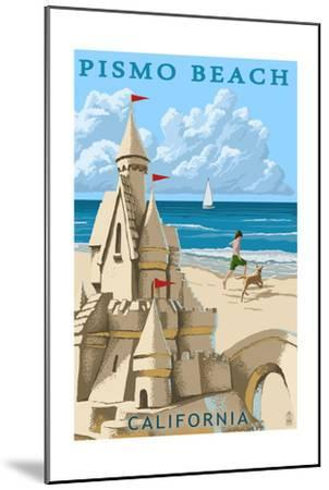 Pismo Beach, California - Sandcastle-Lantern Press-Mounted Art Print