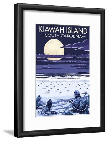 Kiawah Island, South Carolina - Sea Turtles Hatching-Lantern Press-Framed Art Print