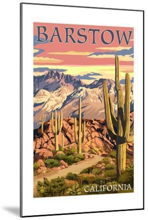 Barstow, California - Desert Sunset-Lantern Press-Mounted Art Print