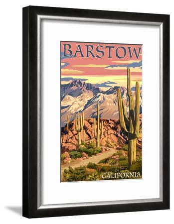 Barstow, California - Desert Sunset-Lantern Press-Framed Art Print