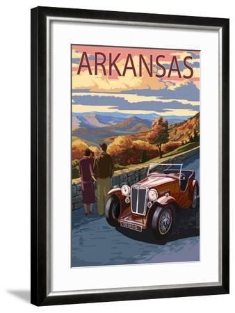 Arkansas - Outlook and Sunset Scene-Lantern Press-Framed Art Print