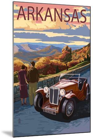 Arkansas - Outlook and Sunset Scene-Lantern Press-Mounted Art Print