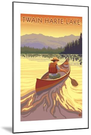 Twain Harte, California - Canoe Scene-Lantern Press-Mounted Art Print