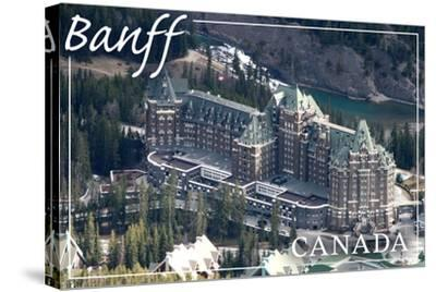 Banff, Canada - Banff Springs Hotel-Lantern Press-Stretched Canvas Print