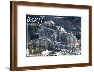 Banff, Canada - Banff Springs Hotel-Lantern Press-Framed Art Print