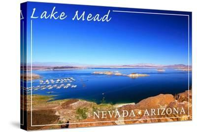 Lake Mead, Nevada - Arizona - Marina View-Lantern Press-Stretched Canvas Print