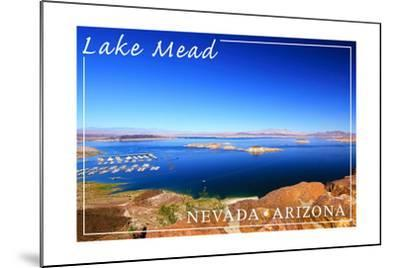 Lake Mead, Nevada - Arizona - Marina View-Lantern Press-Mounted Art Print