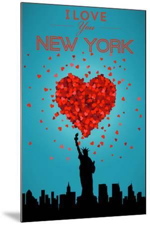 I Love You New York City, NY-Lantern Press-Mounted Art Print