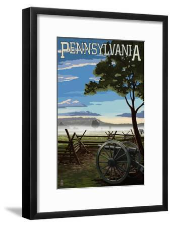Pennsylvania - Military Park-Lantern Press-Framed Art Print