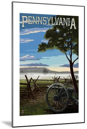 Pennsylvania - Military Park-Lantern Press-Mounted Art Print