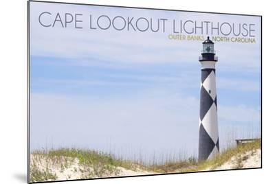 Cape Lookout Lighthouse - Outer Banks, North Carolina-Lantern Press-Mounted Art Print