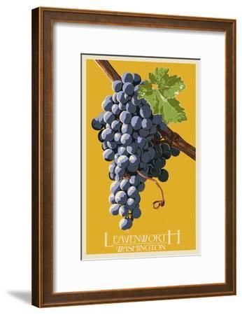 Leavenworth, Washington - Wine Grapes-Lantern Press-Framed Art Print