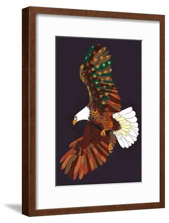 Americana - Soaring Eagle-Lantern Press-Framed Art Print