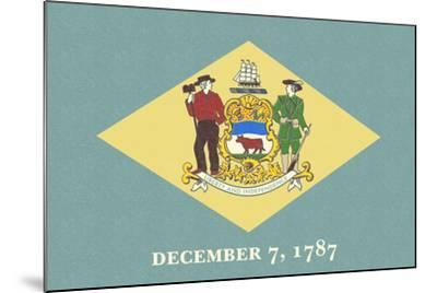 Delaware State Flag-Lantern Press-Mounted Art Print