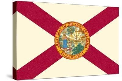 Florida State Flag-Lantern Press-Stretched Canvas Print