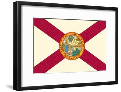 Florida State Flag-Lantern Press-Framed Art Print