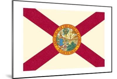 Florida State Flag-Lantern Press-Mounted Art Print