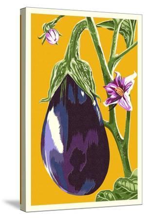 Eggplant-Lantern Press-Stretched Canvas Print