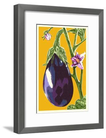 Eggplant-Lantern Press-Framed Art Print