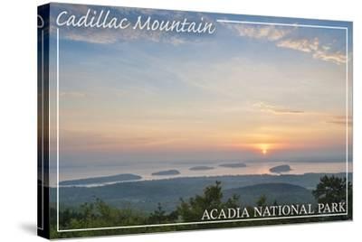 Acadia National Park, Maine - Cadillac Mountain-Lantern Press-Stretched Canvas Print