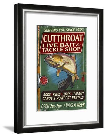 Trout Tackle - Vintage Sign-Lantern Press-Framed Art Print