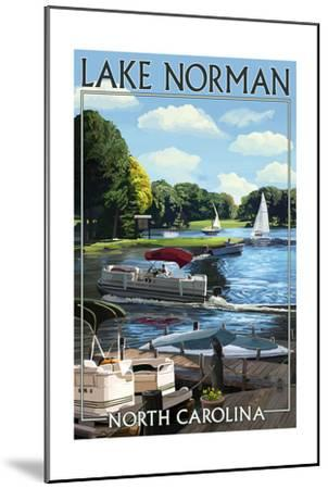 Lake Norman, North Carolina - Boating Scene-Lantern Press-Mounted Art Print