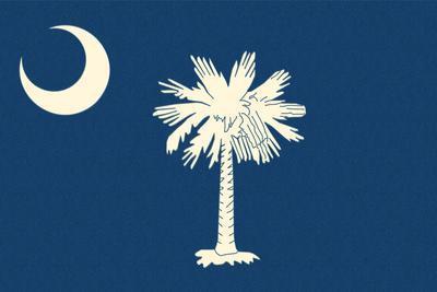 South Carolina State Flag-Lantern Press-Framed Art Print