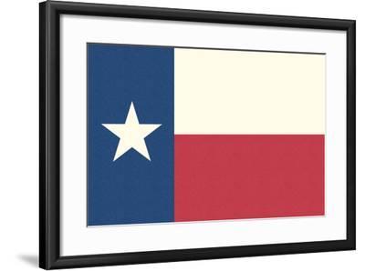 Texas State Flag-Lantern Press-Framed Art Print