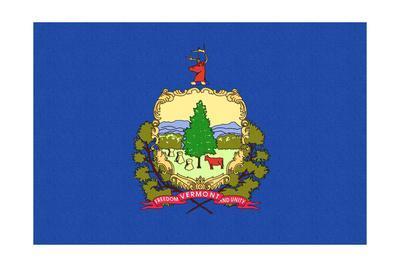 Vermont State Flag-Lantern Press-Framed Art Print