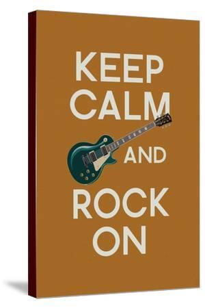 Keep Calm and Rock On-Lantern Press-Stretched Canvas Print