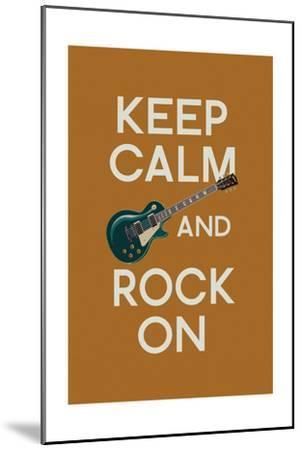 Keep Calm and Rock On-Lantern Press-Mounted Art Print
