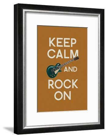 Keep Calm and Rock On-Lantern Press-Framed Art Print
