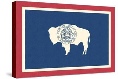 Wyoming State Flag-Lantern Press-Stretched Canvas Print