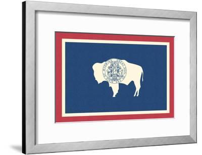 Wyoming State Flag-Lantern Press-Framed Art Print