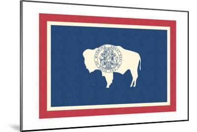 Wyoming State Flag-Lantern Press-Mounted Art Print