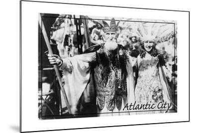 Atlantic City, New Jersey - Neptune and Miss America at Carnival --Lantern Press-Mounted Art Print