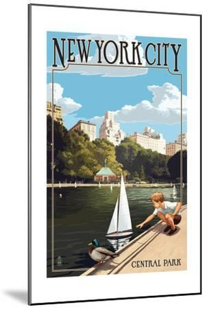 New York City, New York - Central Park-Lantern Press-Mounted Art Print