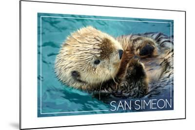 San Simeon, CA - Sea Otter-Lantern Press-Mounted Art Print