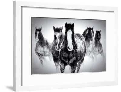 Winter Rumble-Deb Lee Carson-Framed Premium Giclee Print