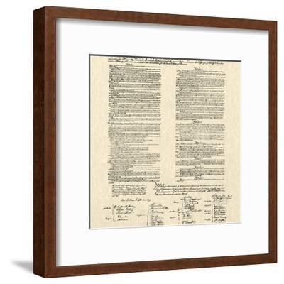 Constitution Document--Framed Art Print
