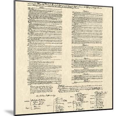 Constitution Document--Mounted Art Print