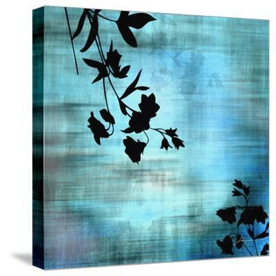 Aqua Floral II-James Burghardt-Stretched Canvas Print